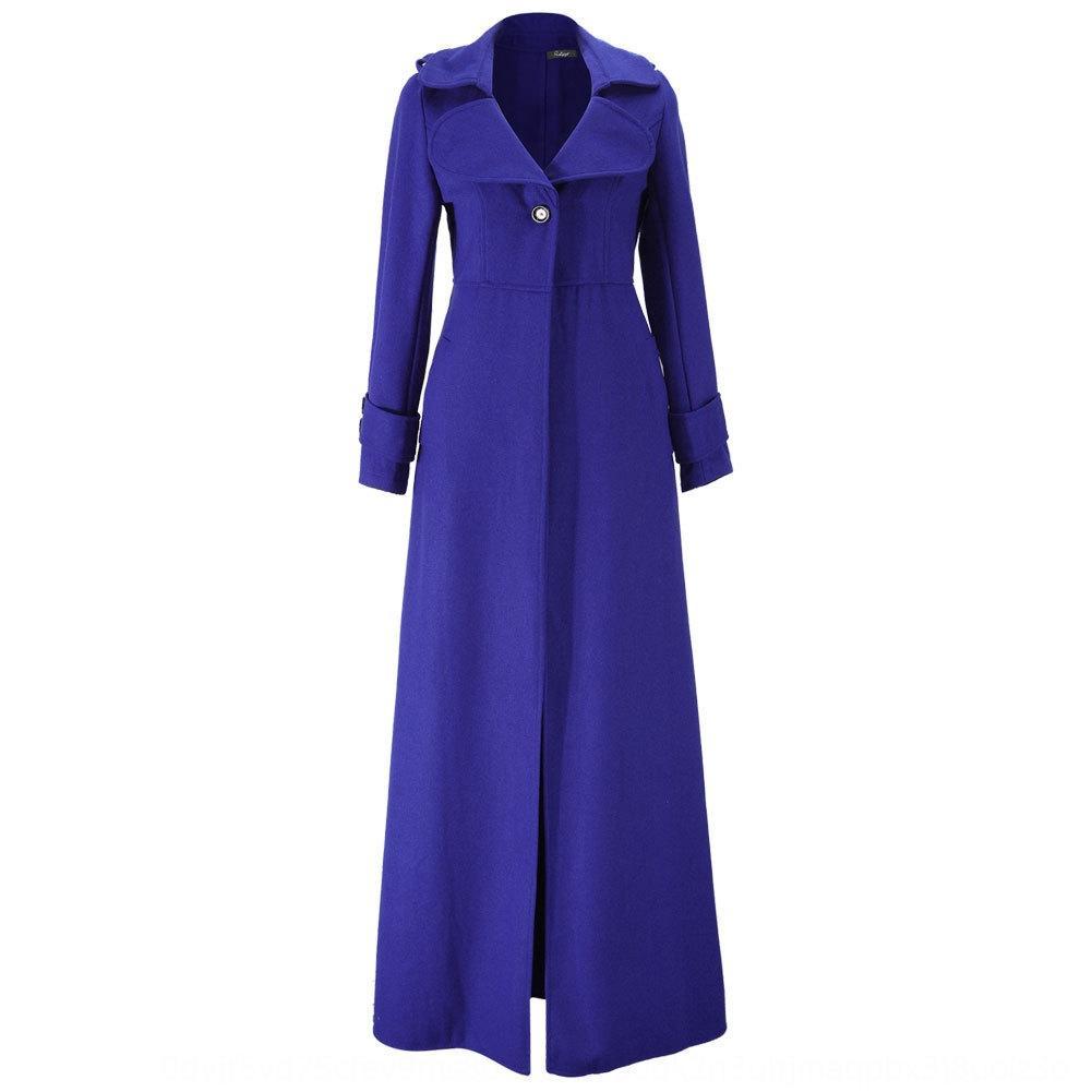 2019 automne et en hiver Nouvelle laine laine Manteau en laine coupe-vent coupe-vent rallongé les femmes et sur manteau de laine à col roulé femmes