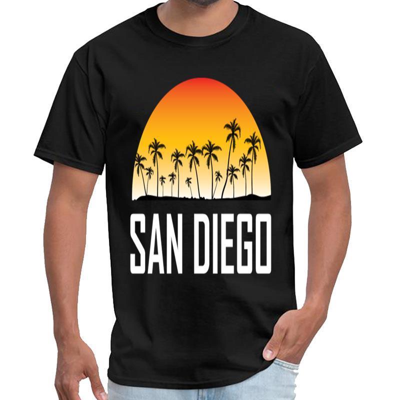 Customized San Diego in California Tramonto Palme Beach maglietta saucezhan delle donne URSS maglietta 3xl 4xl 5XL tee top