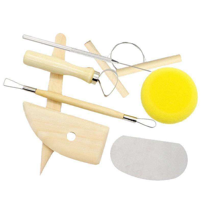 8pcs / set riutilizzabile Diy Ceramiche Tool Kit casa di lavoro manuale Scultura di argilla Ceramica Stampaggio strumenti di disegno