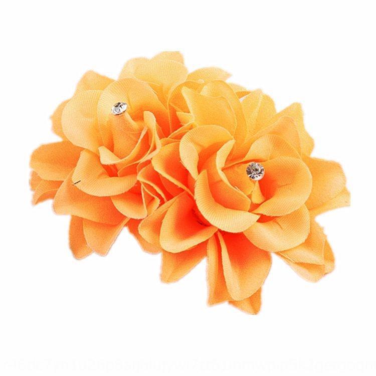 White double rose side clip dance performance hair accessories Dance Flower headdress rhinestone floral headdress bridal hair clip