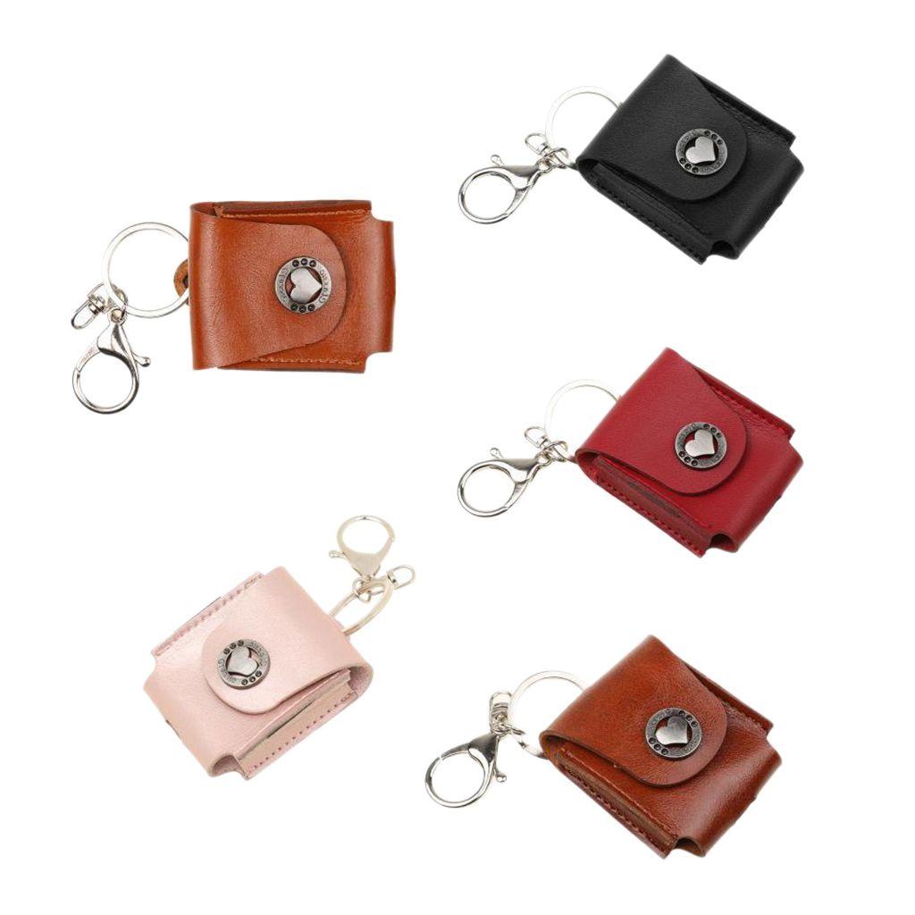 Casque portable Sac Housse de protection cuir pour AirPod 5 Couleur