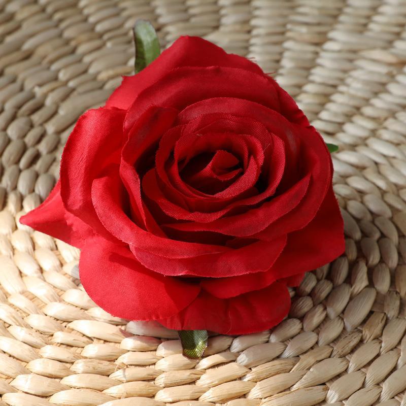 10 unidades / lote flores de seda artificial cabeça Rose para as flores do casamento de DIY parede Decoração da grinalda DIY material de decoração da porta do arco