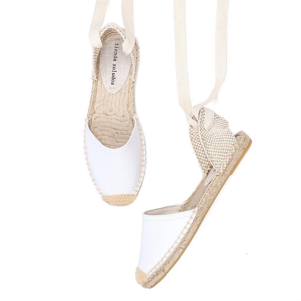 2020 Rushed neuen Ankunfts-echte T-Riemen Wohnung mit offenen Sandalen Sapatos Mulher Sandalen Mujer Damen Espadrilles flache Schuhe Y200620