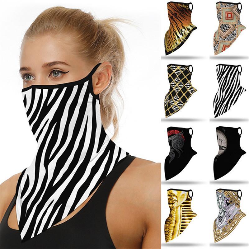 Fashion Unisex Face Mask Cycling Scarf Digital Printing Sports Bandanas Dustproof Anti-UV Face Masks Triangle Scarves Men Women Mouth Cover