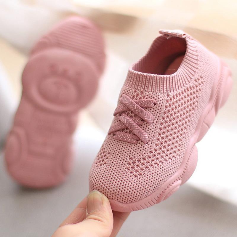 Оптовая детская обувь Симпатичные противоскользящие мягкие нижние детские кроссовки повседневная плоские кроссовки дети размера девушки мальчики спортивные ботинки