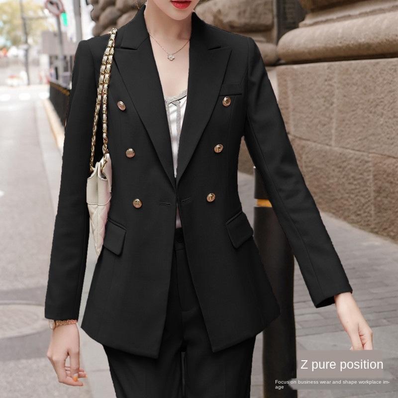 sl9eK ByBSK giacca lavoro Pure femminile stile coreano nero fan dea giacca broadcasting professionale abito nero anziano socialite ospite di fascia alta