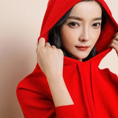maglione cappotto di maglia 2019 delle donne di autunno nuovi incappucciati allentati Coat generazione pullover pullover di colore solido