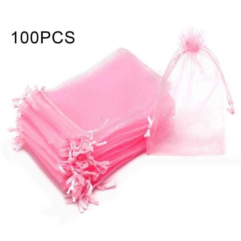 Légère couleur pure Pigment Mesh fil du faisceau Bouche cadeau de Noël de sucrerie sac sac-cadeau