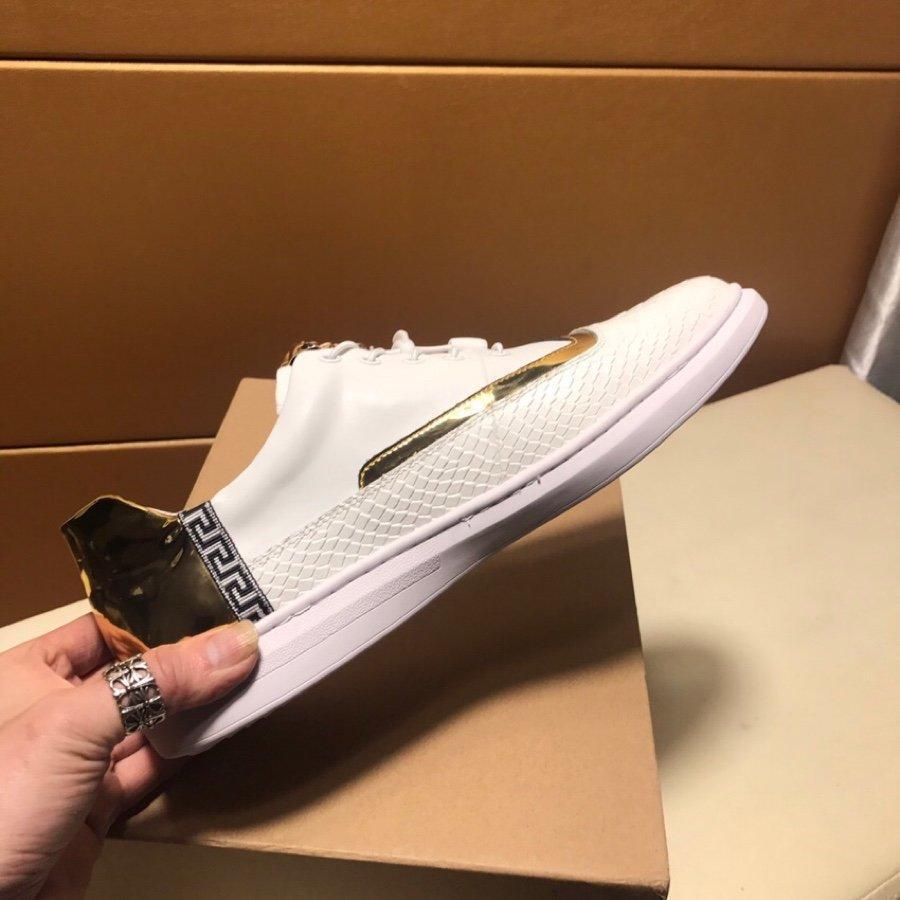2021a Lüks Sınırlı Üretim Erkekler '; S Deri Baskılı Düşük -Top Lace Up Günlük Ayakkabılar, Yüksek Kalite Büyük Beden Doğa Sporları Ayakkabı