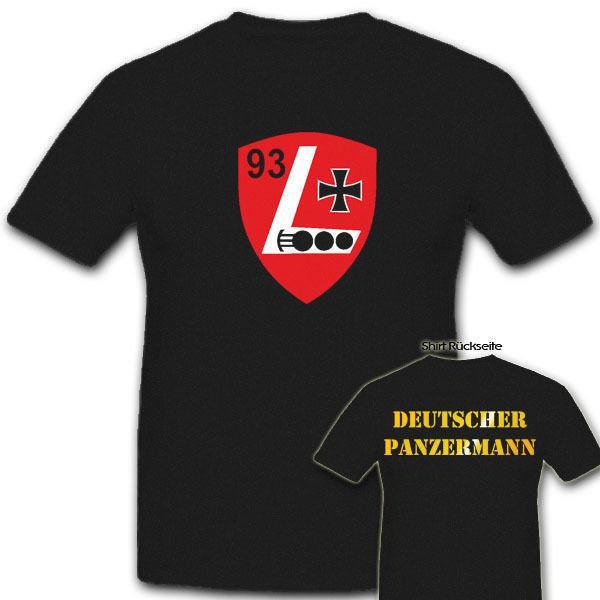 2019 Hot vente mode T-shirt PzLehrBtl 93 Panzermann Wappen Panzerlehrbataillon Tee shirt Bundeswehr