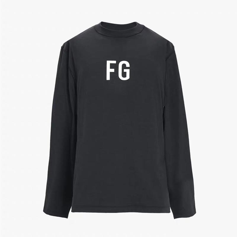 19SS FEAR OF GOD 6TH LONG SLEEVE 'FG'TEE FG Jerry FG-Buchstabe gedrucktes T-Shirt beiläufige FOG Breath Straße Skateboard Mode T HFLSTX489