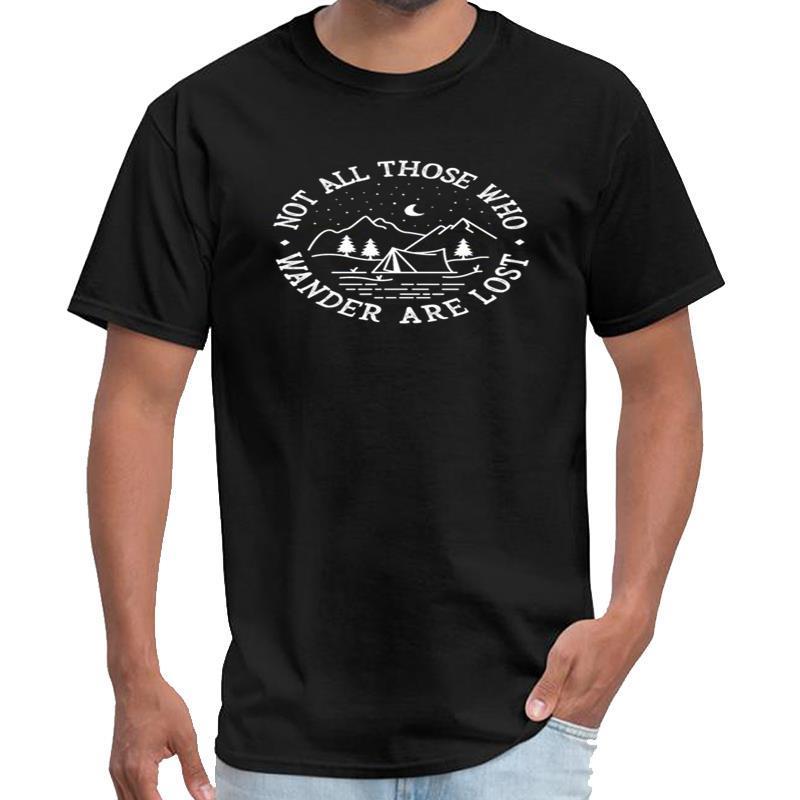 Moda non tutti quelli che vagano sono persi Camping Graphic shin chan signori camicia mens Vintage Clothing maglietta XXXL 4XL 5XL 6XL s