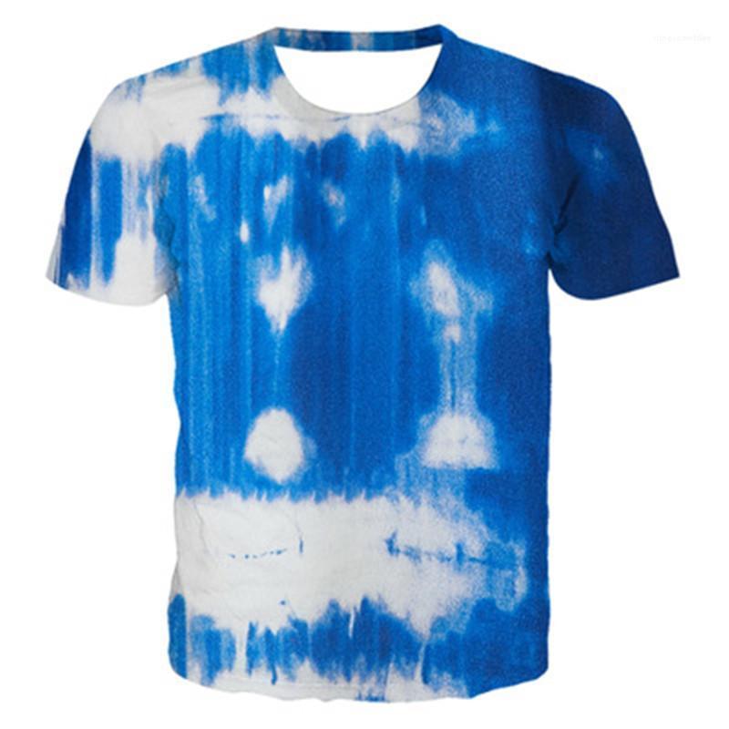 Estate casual Abbigliamento Abbigliamento Donna gradiente di stampa T-shirt di moda Tintura manica corta sciolto girocollo Tops Designer Nuova femmina