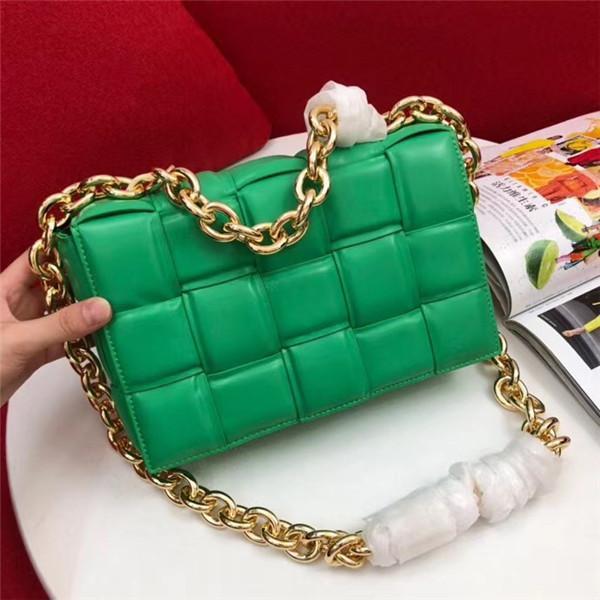 Geldbeutel und Handtasche der Frauen sackt Handtaschen Rindsleder Designer Luxus-Handtaschen Geldbeutel Umhängetasche Runde Kette Volltonfarbe quadratische Tasche IN