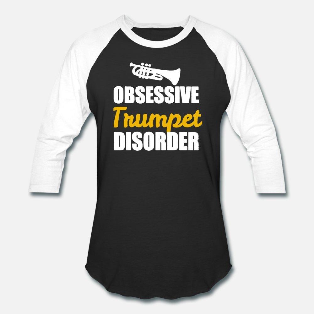 Obsesivo Trastorno trompeta camiseta de los hombres diseñador algodón S-3XL insertarse en el modelo auténtico de la camisa de la vendimia del verano del estilo