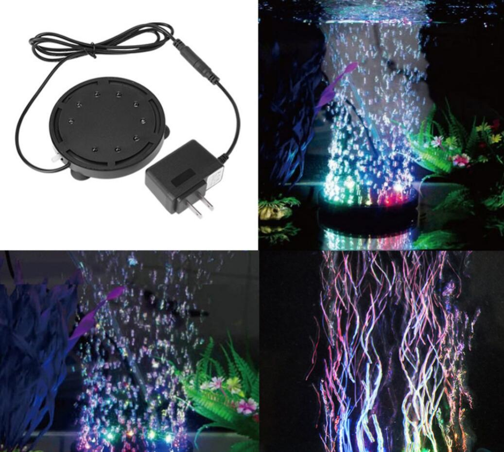 مضخة الهواء أضواء حوض السمك إضاءة الصمام 12 LED ضوء غاطس حوض السمك للدبابات الهواء حجر فقاعة مضخة ديكور بقيادة حوض السمك