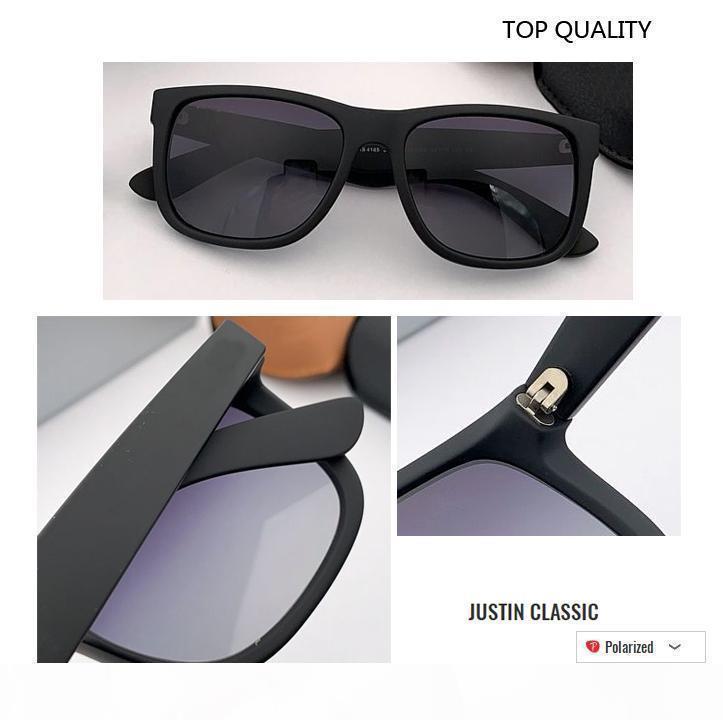 2020 самого нового оптовых Высокого качество 4165 бренда очки Justin стиль дизайнера Gafas для мужчин женщин зеркала неполяризованного UV400 градиентной линзы