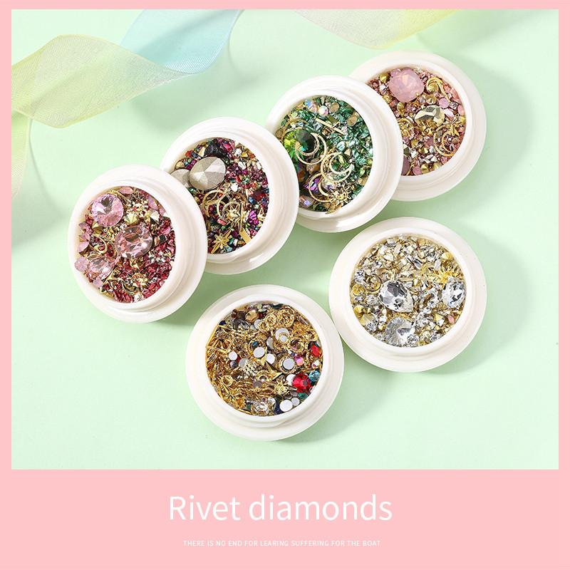 No bad smell Mixed Colorful D Nail Rhinestones For Nails Crystal Stones For Nail Art Decorations DIY Design Manicure Diamonds Je
