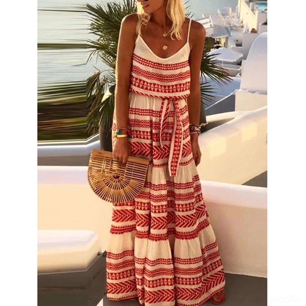 Dr7dM 3bShv 2020 стиля богемной новая подвязки женщин юбки 2020 нового богемный стиль женщин напечатанного напечатанного SUSPENDER юбка платье платья