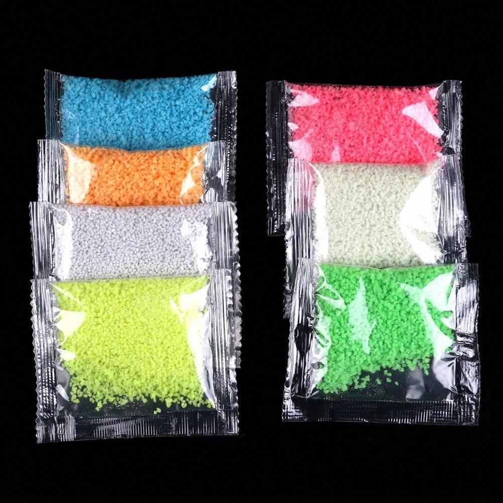 1Bag Luminous Partikel Glühen Pigment hellen Glühen Sand blaufluoreszierenden Super-Glow In The Dark Sand-Spielzeug für DIY, die Flasche wünscht zR3q #