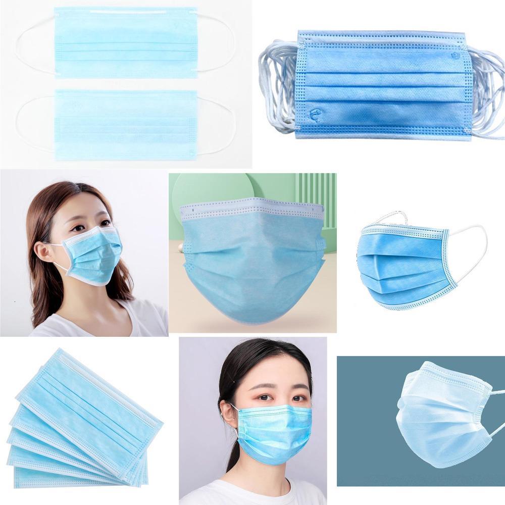Самые низкие слои 3 Face пылезащитные Маски Маска Цена Защитные Е.Р. маски против пыли синий Salute # 636PGQG