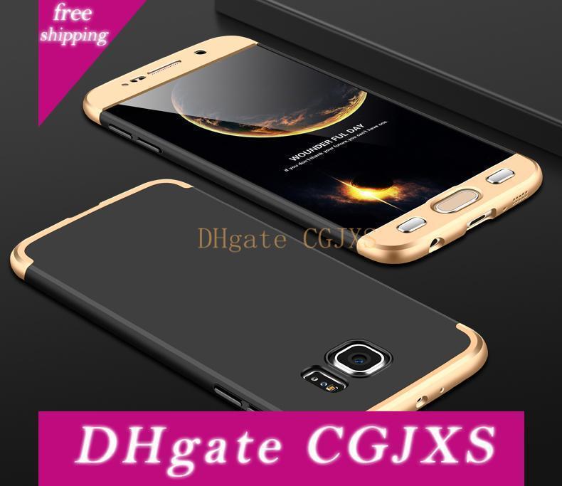 1 360 Derece Tam Vücut Sert Pc Mat Koruma Kılıf İçin Iphone GKK 3 x 8 5 Se 6 6s 7 8 Artı Galaxy S7 Kenar S8 S9 Artı Not 8 300pcs / Lot