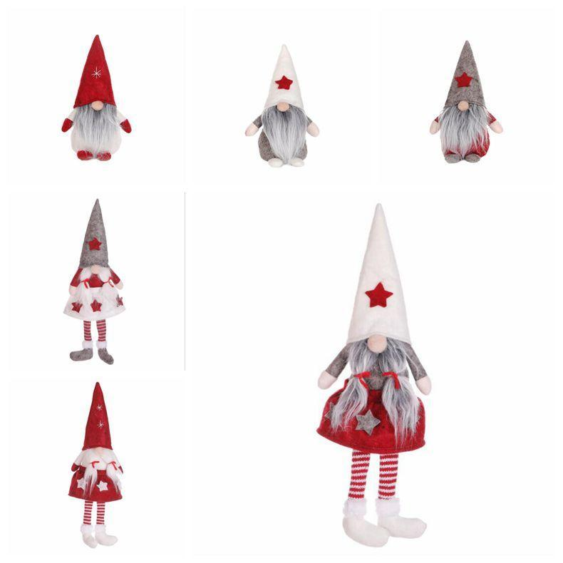 Christmas No Face Dolls Funny Window Decoration Supplies Santa Clause Hat Toy Santa Doll New Year Gift Cartoon Christmas Toys Decor DHD905