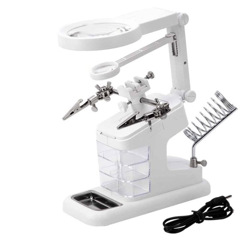 Th-7026 multifonction électrique Luo fer bureau Magnifier composants électroniques Tiroir Power Interface Workbench