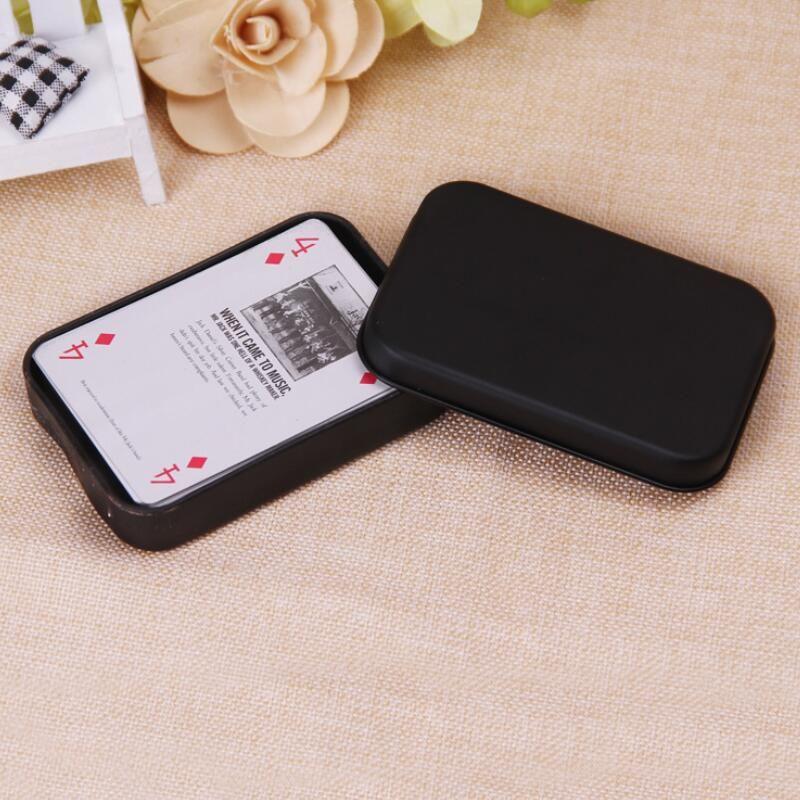 Mini Tin Gift Box Small Nero esaurito Barattolo Metallo dell'organizzatore di caso Contenitore per battere moneta Candy chiavi Playing Card OWD1058