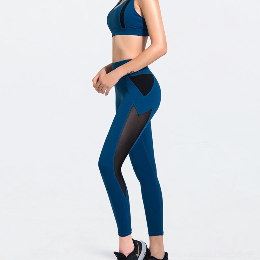 Le ressort de vêtements de conditionnement physique costume des femmes de yoga et de nouveaux sports loisirs haut pantalon pêche de levage Underwear taille d'été de soutien-gorge de la hanche T4FCK