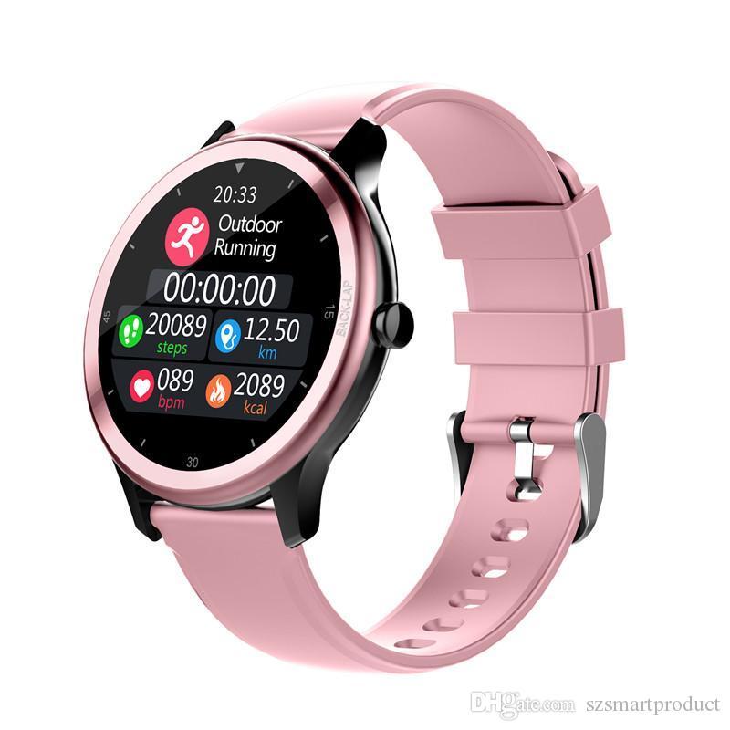 Presión G28 inteligente mujeres del reloj de los hombres a prueba de agua IP68 Bluetooth SmartWatch Para iOS Android ritmo cardíaco Monitor de sangre Smartwatches