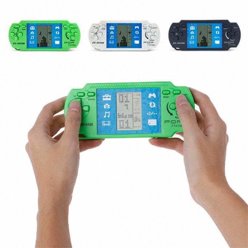 휴대용 클래식 테트리스 게임 어린이 PSP 휴대용 게임 교육 장난감 아이들의 콘솔 성인 지능 장난감 선물 게임 qYzN 번호