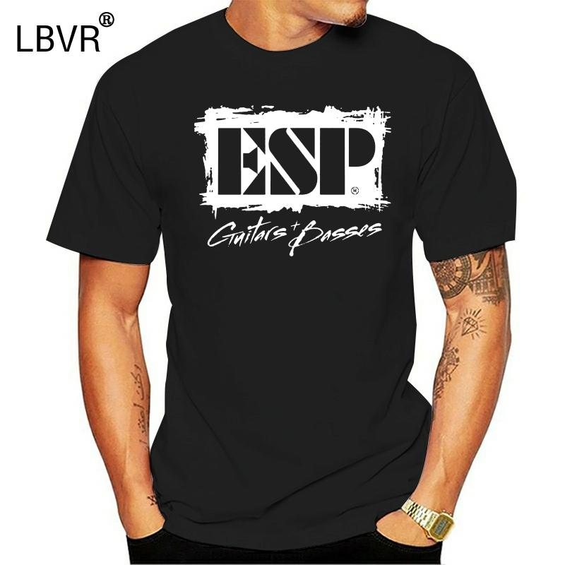 Men T Shirt Esp Guitars + Basses Black Tops Clothing T-Shirt Novelty Tshirt Women