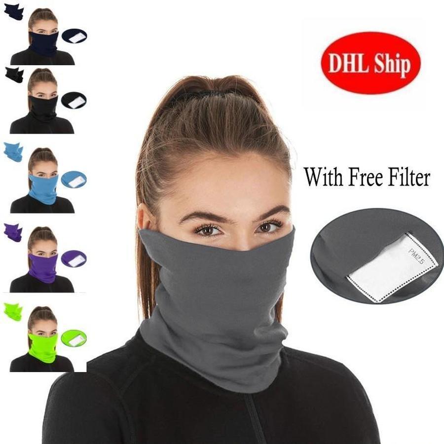 Maschera nuovi sport esterni di riciclaggio di campeggio per unisex adulti capo sciarpe Wrap Ghetta maschera di protezione senza saldatura sciarpa magica Con PM 2,5 Filtro