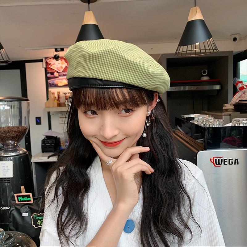 RUETX лето женщин тонкая корейский стиль модно мило все-матч художник шляпа Художника beretBeret берет beretBritish модули восьмиугольная плед ч