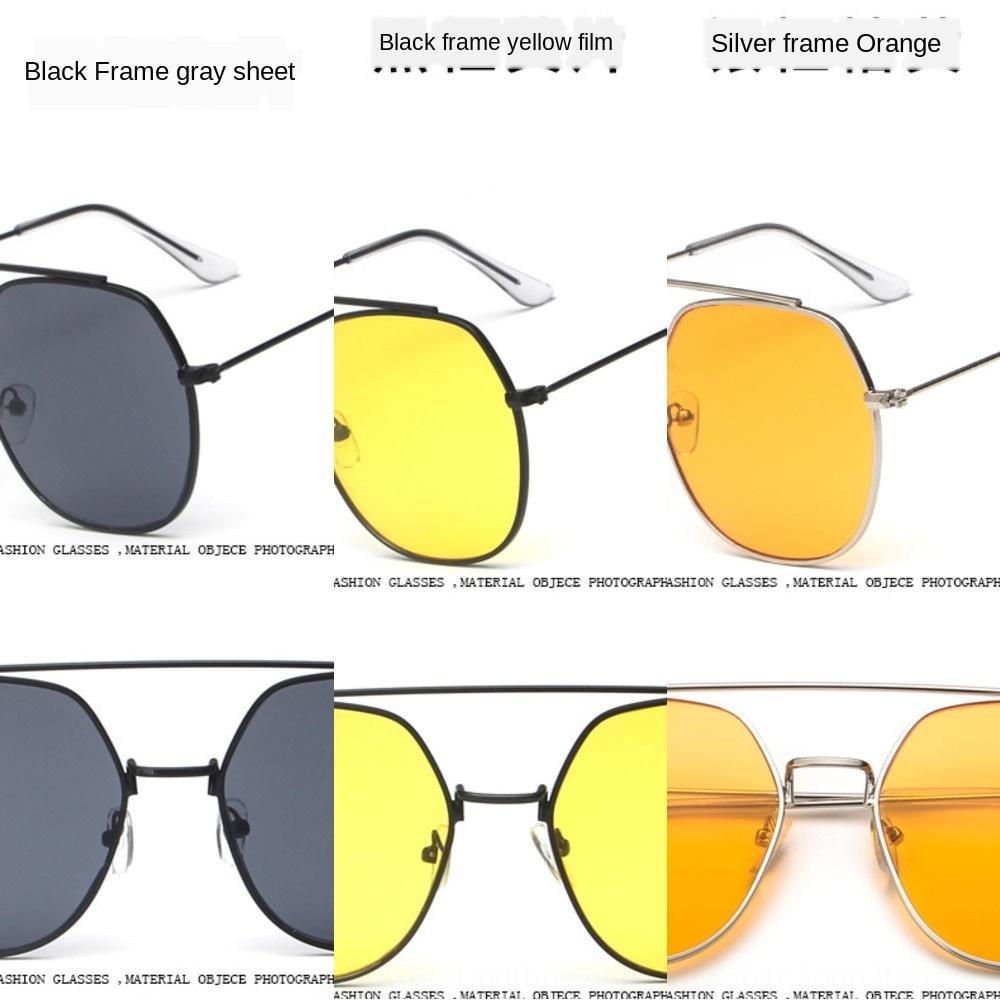 2019 nouvelles lunettes de soleil métal tendance à la mode 3562 double faisceau de femmes grandes lunettes de soleil cadre