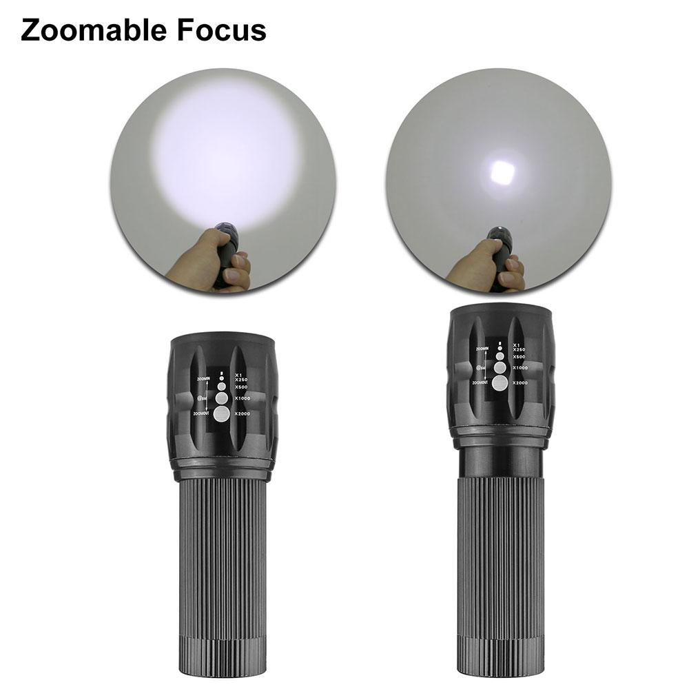 Konesky lanterna LED Lanterna De Led Linternas Torch Zoomable Lâmpada Mini Lanterna Led Light Lanterna Bike Light 1 Pc