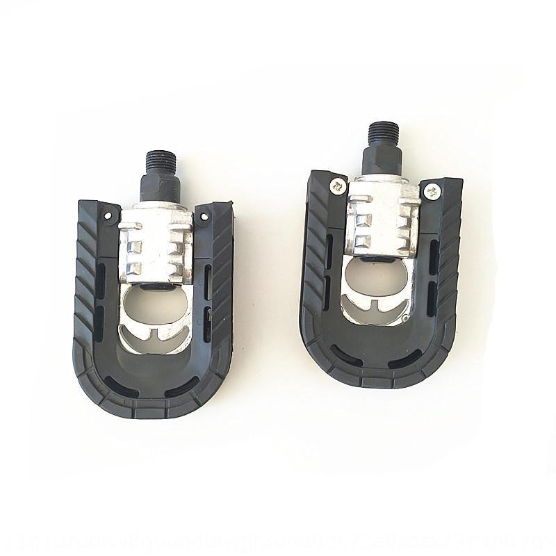 Folding carro semi-esfera de alumínio placa dobrável dobrar carro metade do pedal de nylon semi-alumínio liga pedal dobrel