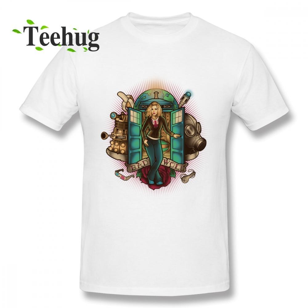 El doctor divertido Quién camiseta camiseta para hombre de la nueva llegada de impresión en 3D para el muchacho 100% algodón camiseta