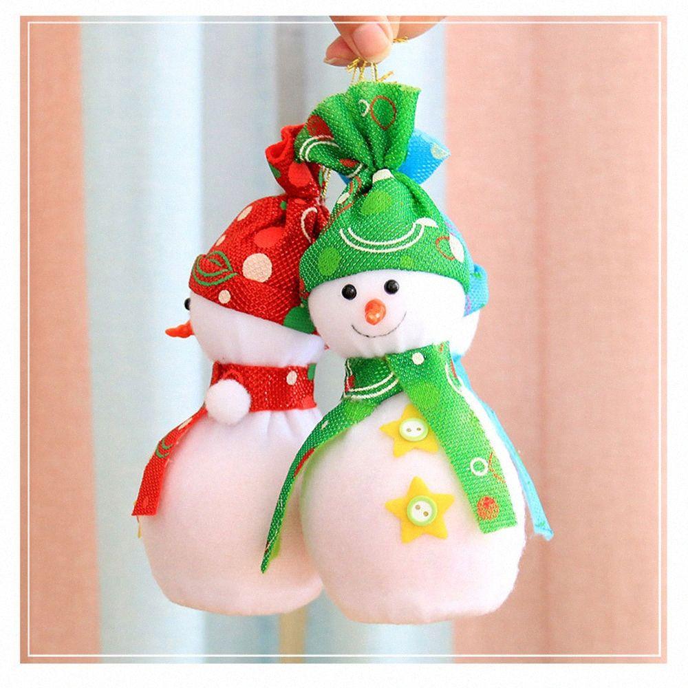 Los titulares de regalo de Navidad Bolsas de Navidad Casa y jardín del partido de tela caja del caramelo manera de la decoración zScm lindo #