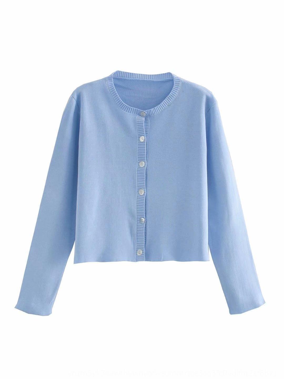 d9vlF 2020 рано короткий м верхняя куртка короткая куртка новый трехцветный вязаный кардиган однобортный -0500 топ осень