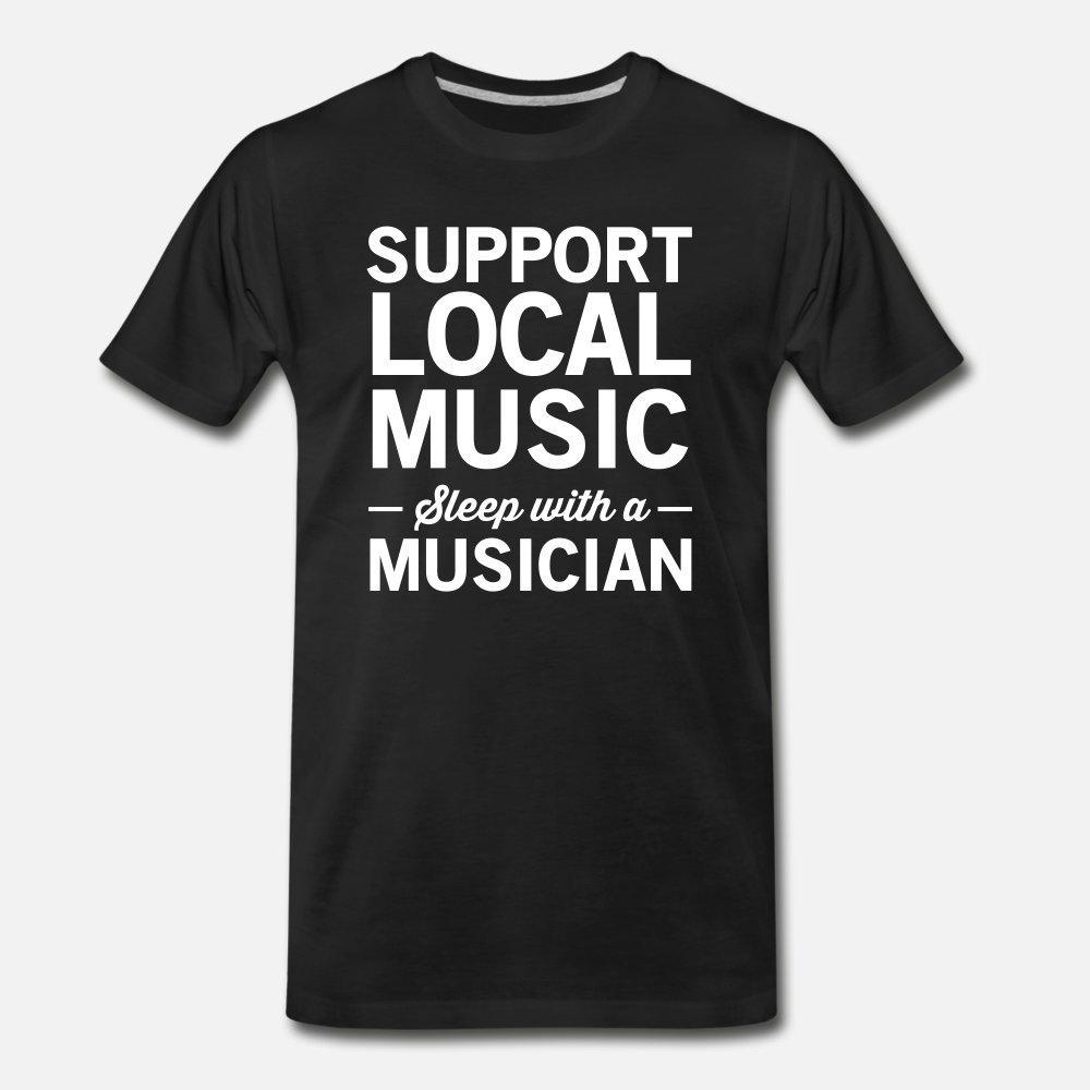 Música local do apoio do sono com um músico t shirt fresco Men presente Algodão S-3xl Fit presente Verão Básico