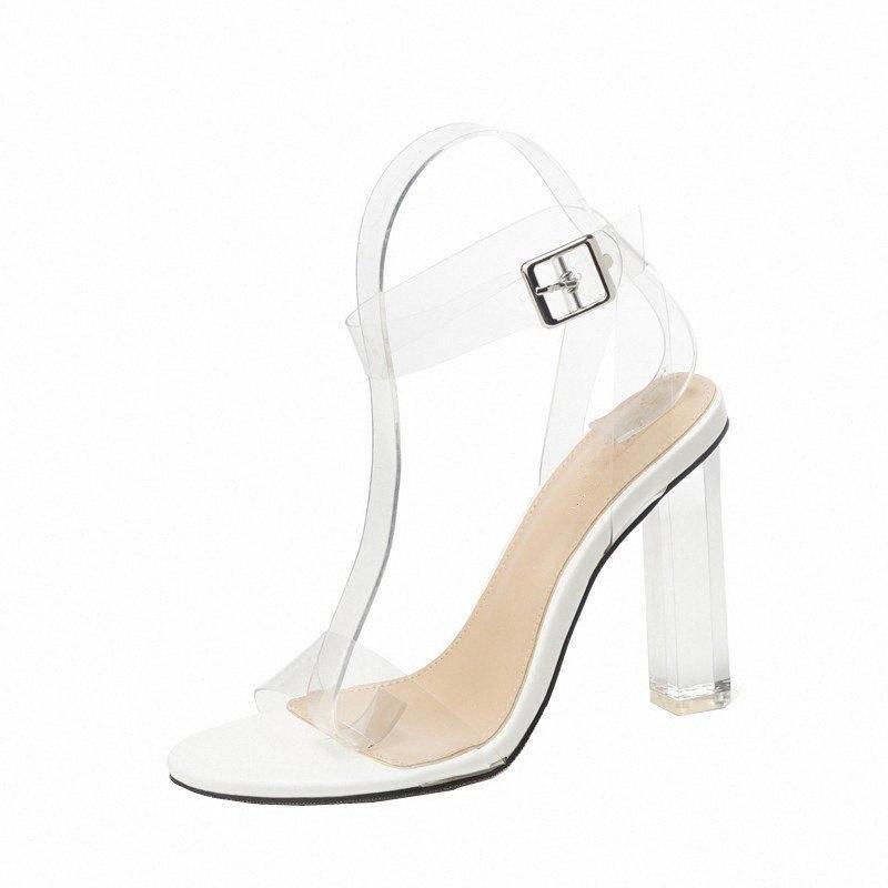 2020 핫 판매 여름 여성 샌들 편안한 PVC 투명 신발 여성 오픈 발가락 섹시한 패션 신발 Zapatos 드 Mujer의 llx0 번호