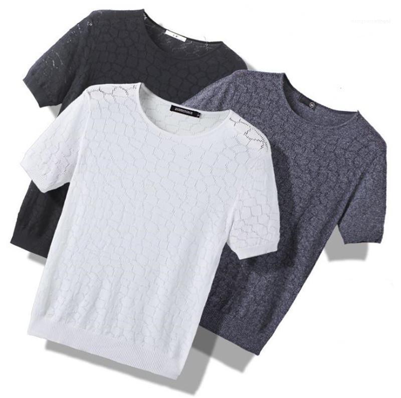 Casual Kısa Kollu Mürettebat Boyun Moda T Gömlek Erkek Tasarımcı tişörtleri Hollow Out Yaz nefes Tops