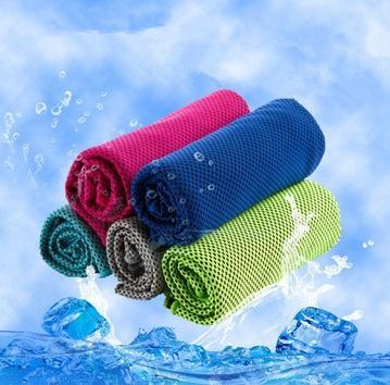 Ice Cold Sweat Полотенце Летних упражнения Фитнес Охладить Quick Dry Soft дышащего охлаждения Полотенца для взрослых детей 10 цветов 100 * 30см EEA1934