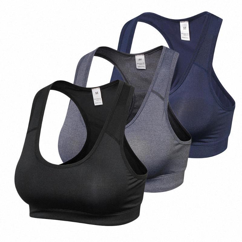 Pack de 3 mujeres Scoop Deportes Bras entrenamiento gimnasia de Ejecución Sujetador Deportiva Deporte SUPERIOR de la aptitud MwDT #