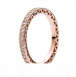 Vente chaude véritable argent 925 CZ Bague en diamant avec l'original fitting bijoux Pandora Bague de fiançailles de mariage pour les femmes