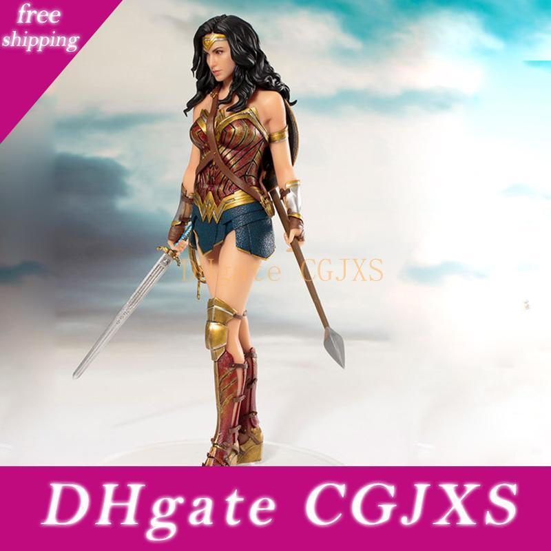 Dc Comics Mulher Maravilha Figura Brinquedos Boneca 19 centímetros Dc Justice League ArtFX princesa Diana Estátua Coleção modelo de ação Brinquedos Figura