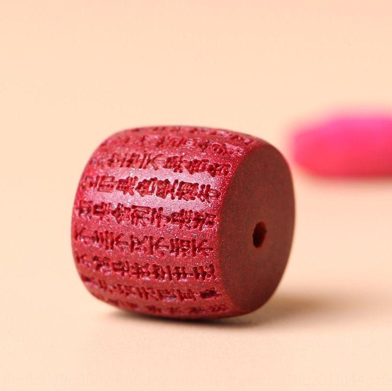 RnJnf Chen Shi cinábrio soltas DIY prajna Sutra do Coração contas barril Buddha contas pulseira vermelha DIY acessórios pulseira acessórios