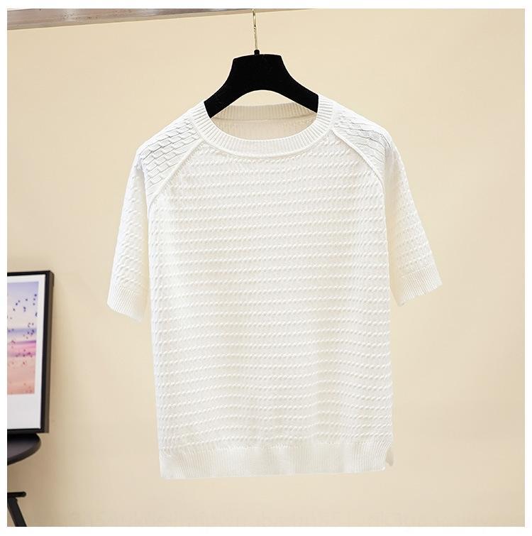 ybpTW ZMFvd половина рукава лед фа трикотажа корейского стиль твист женщин разделить свободно половину рукав Hong футболки стиль шик основывая футболку Kong топа